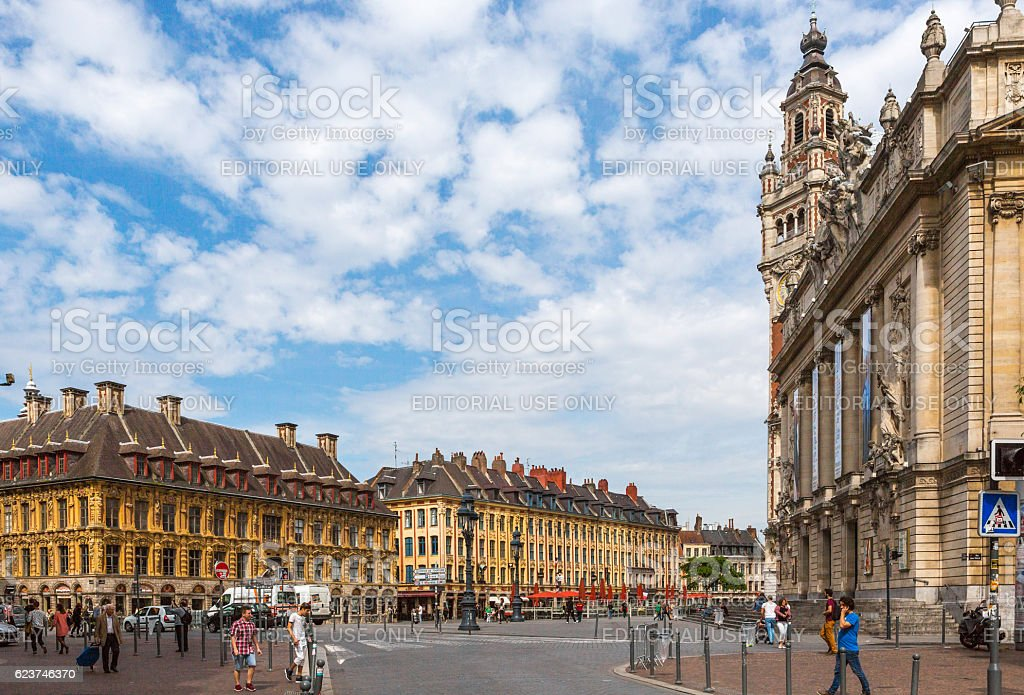 Historical gothic Vieille bourse building at downtown lille france - Photo