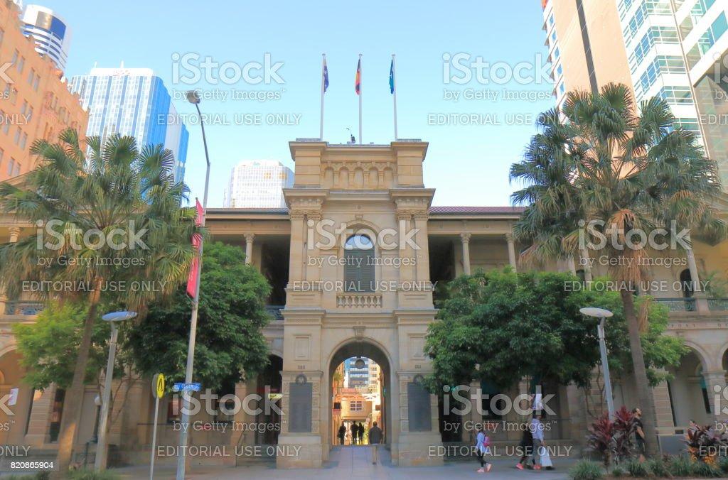 Historical GPO building Brisbane Australia stock photo