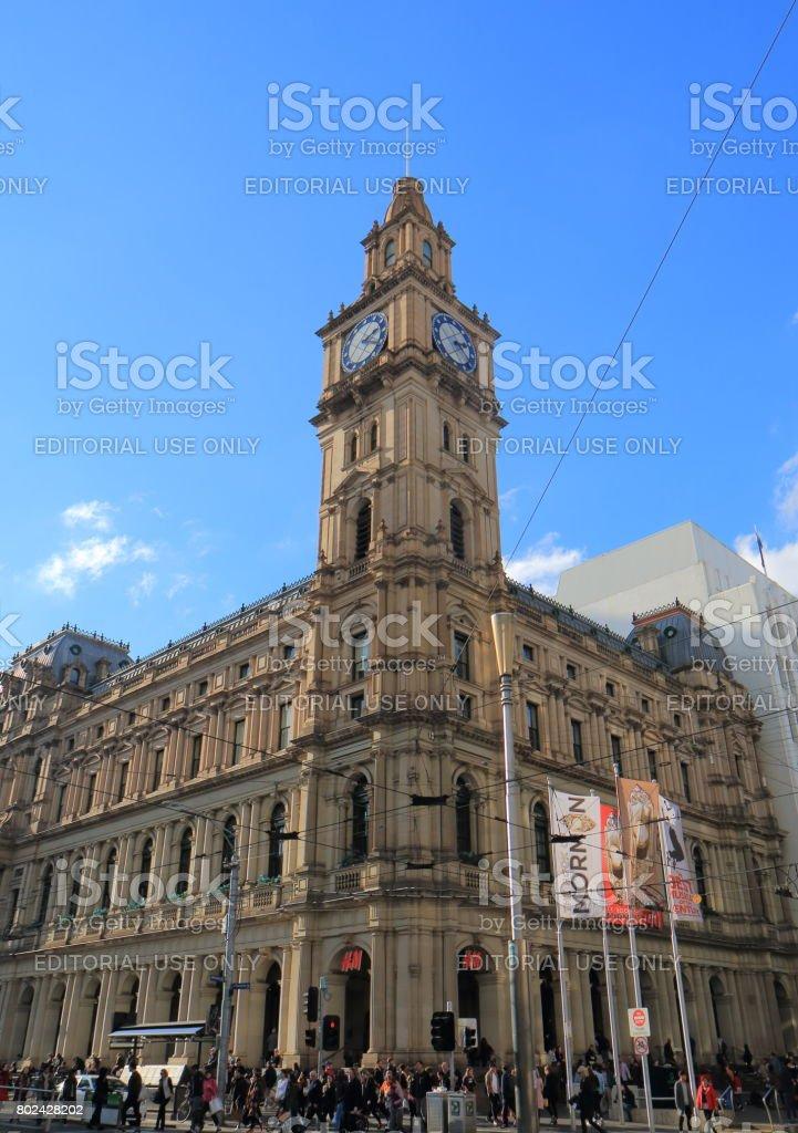 Historical GPO building Melbourne Australia stock photo