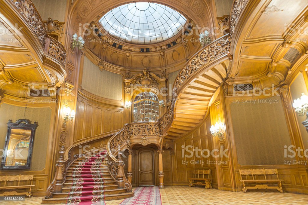 Historical house of scientists building interior at Lviv ukraine stock photo