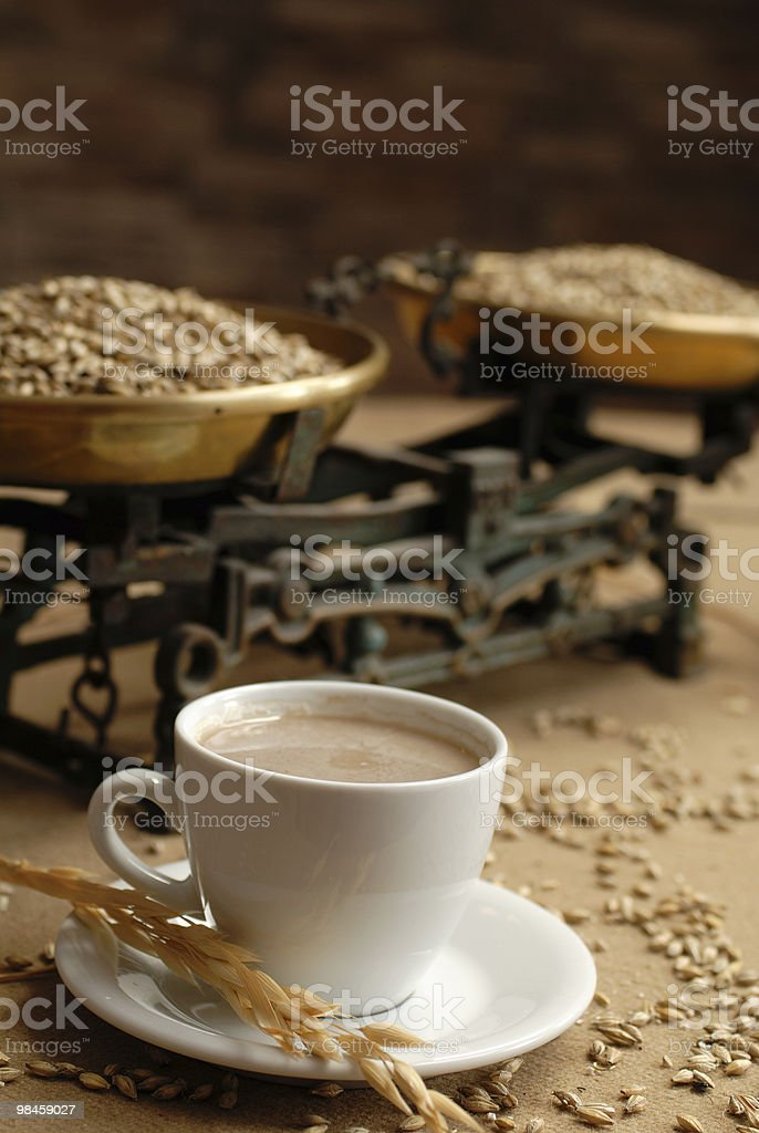 Historical household scales royalty-free stock photo