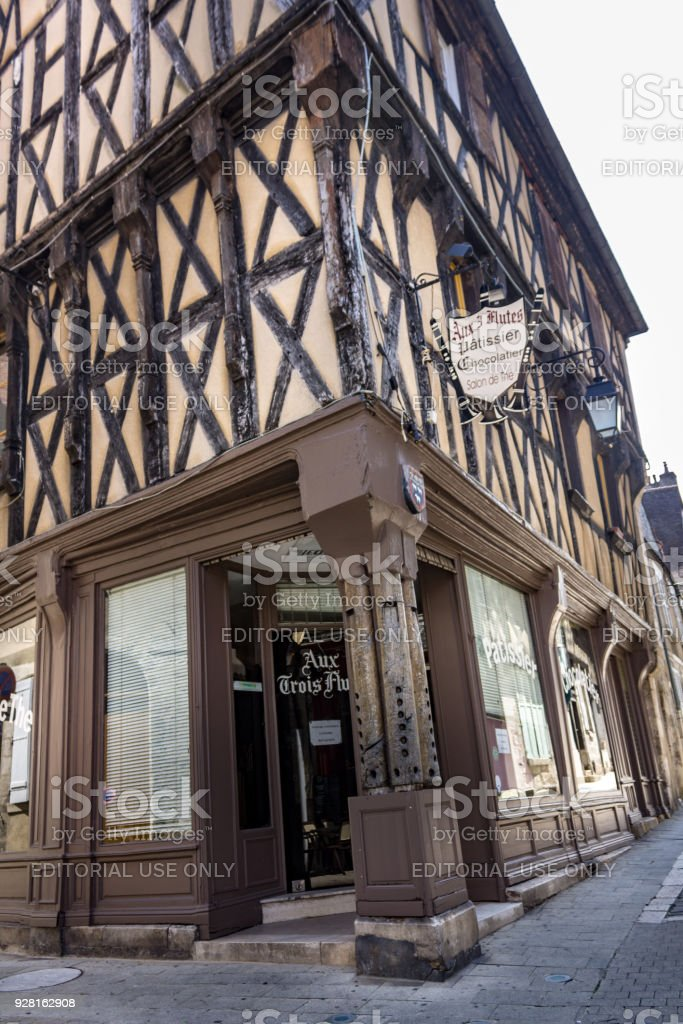 Historical Houses Bourges France stock photo