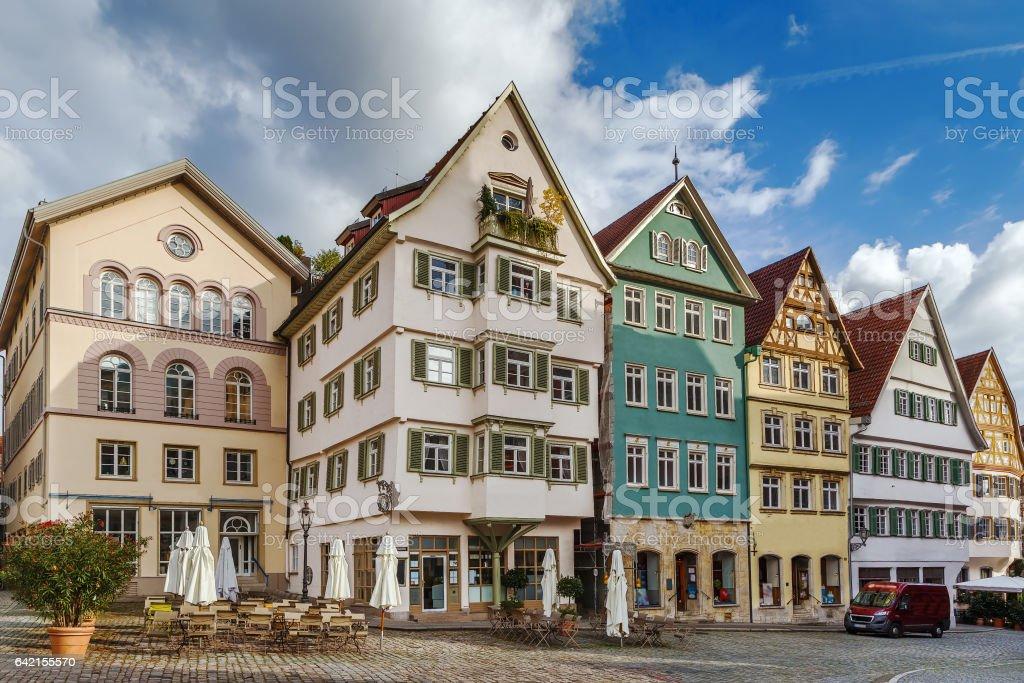 Historical houses, Esslingen am Neckar, Germany stock photo