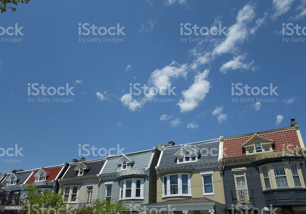 Historical Houses in Virginia stock photo