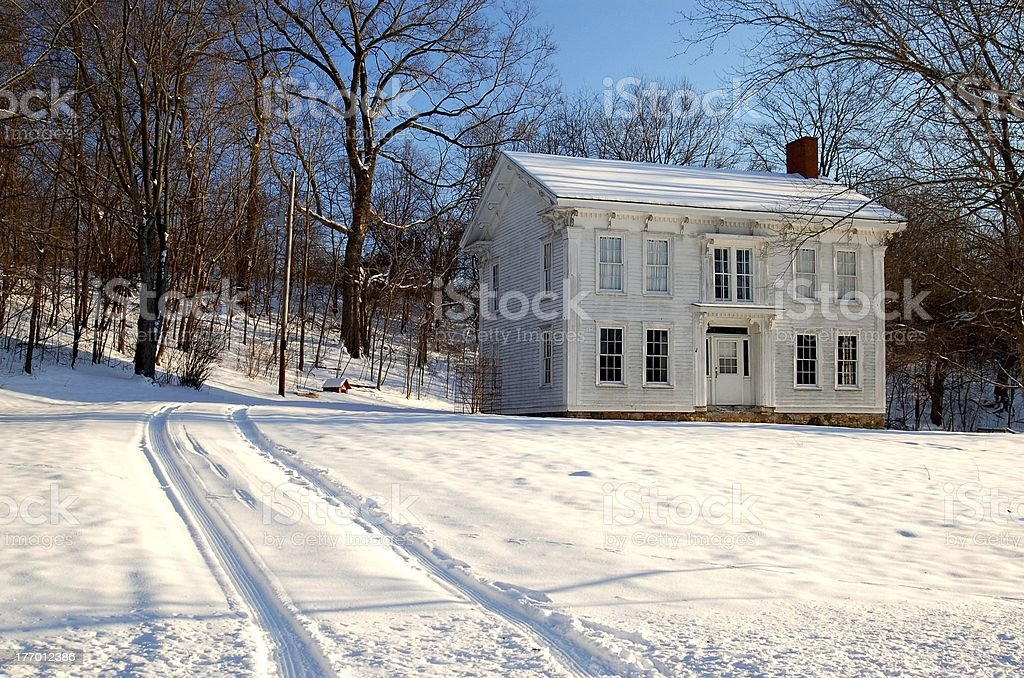 Historical Indiana Home Preserved stock photo