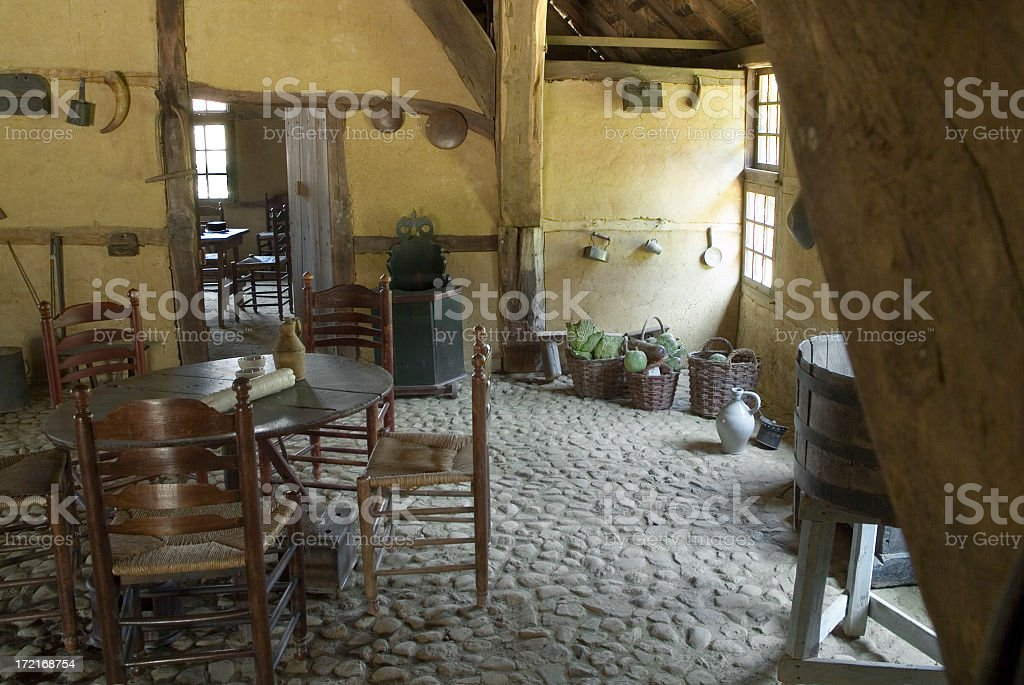 Historical interior of Dutch farmhouse royalty-free stock photo