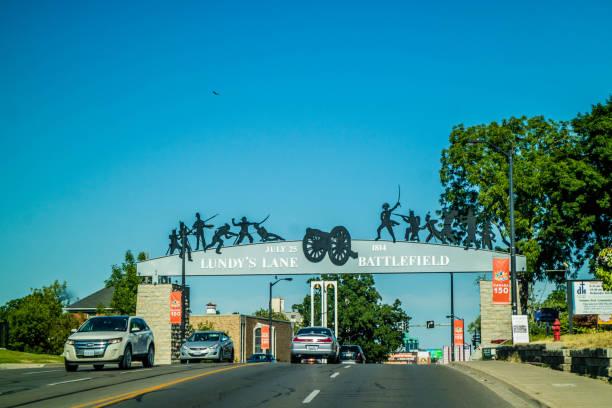 A historical landmark in Niagara Falls, Ontario stock photo