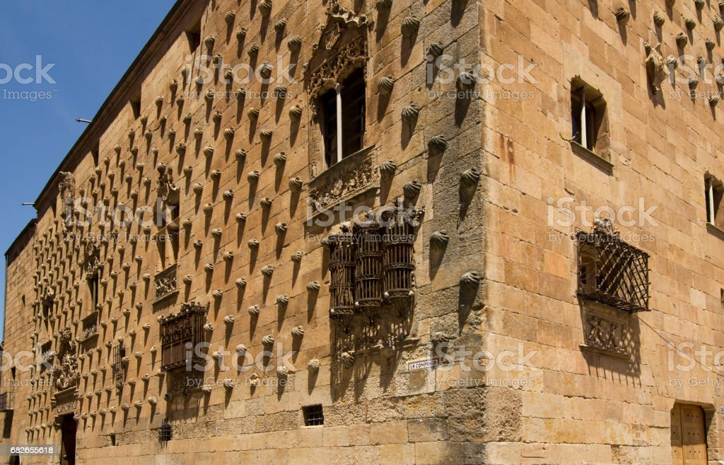 Historical library in Salamanca, Spain stock photo