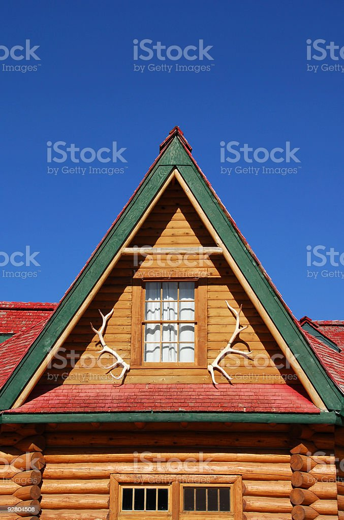 Historical lodge royalty-free stock photo