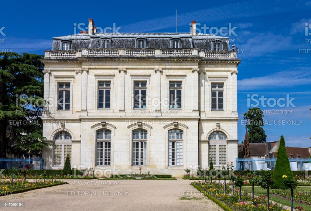 Historical Mansion Bourges France stock photo