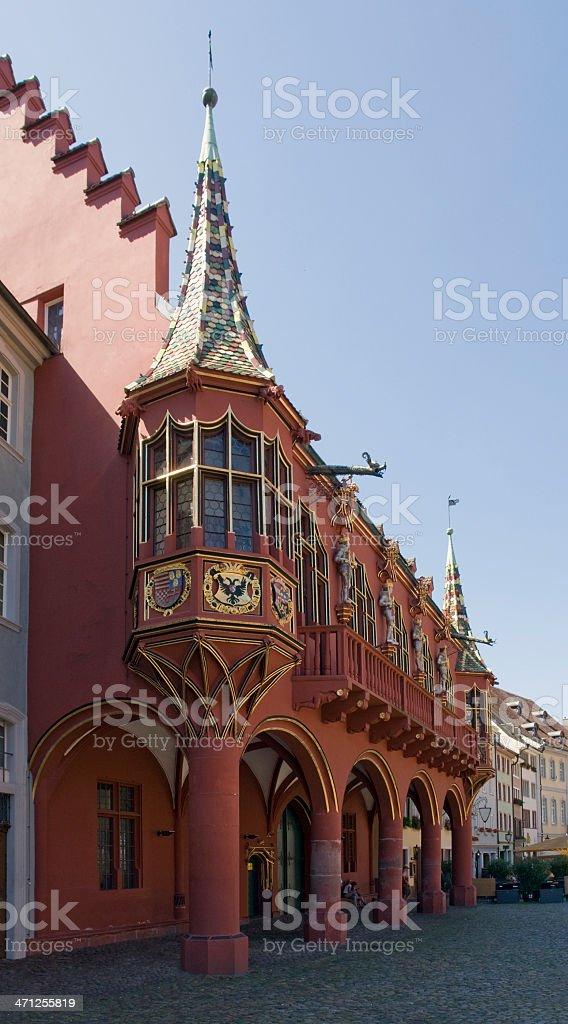 Historical Merchants Hall of Freiburg im Breisgau royalty-free stock photo
