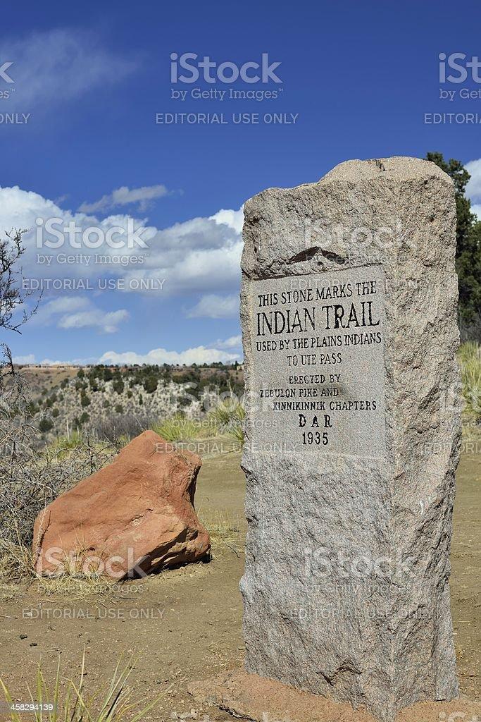 Historical Monument, Garden of the Gods, Colorado Springs royalty-free stock photo