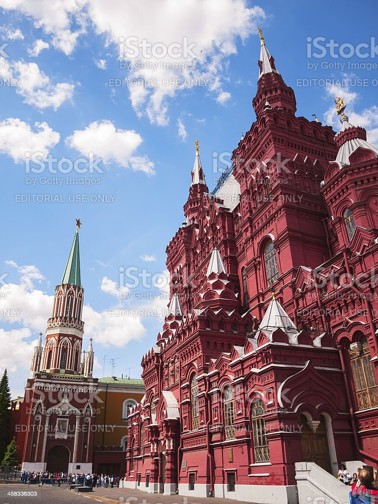 Historical Museum on the Red Square and Kremlin, Moscow, Russia royalty-free stock photo