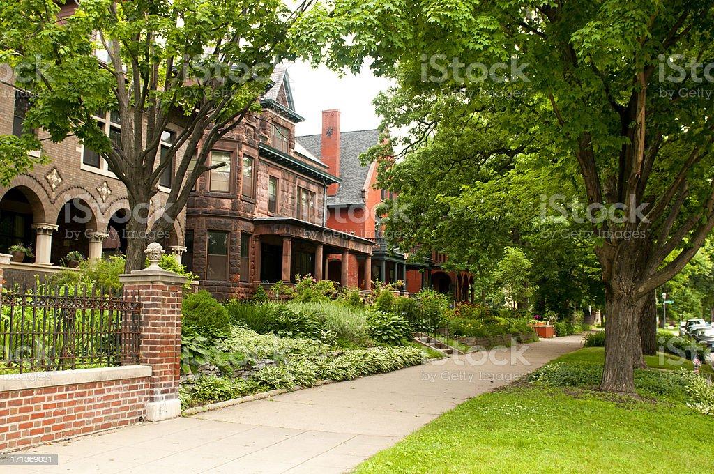 Historical Neighborhood stock photo