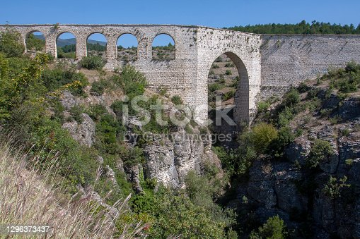 Incekaya Aqueduct (Tokatli Canyon) in Safranbolu,Historical old bridge,  Karabuk, Turkey