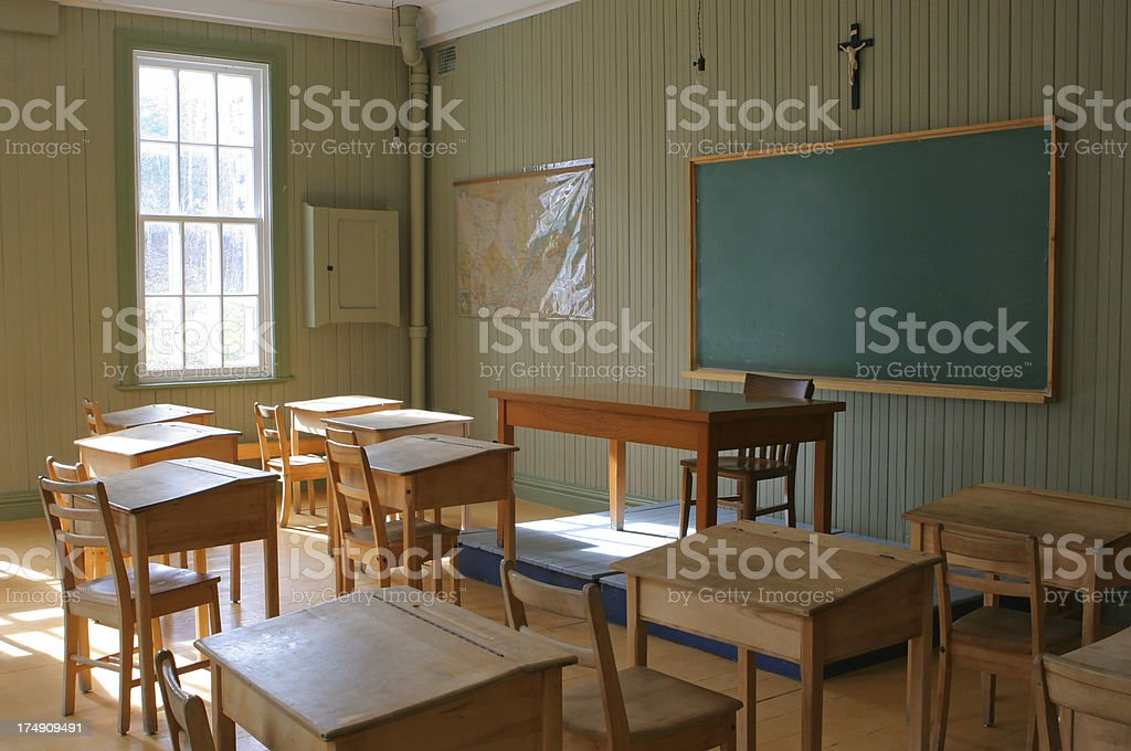 Historical Old School Interior royalty-free stock photo