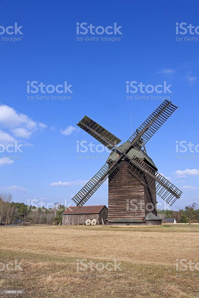 Historical, original windmill stock photo