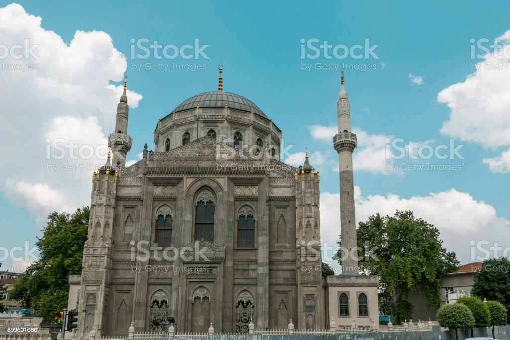 Historical Ottoman Mosque And Minarets At Aksaray Region Of Fatih