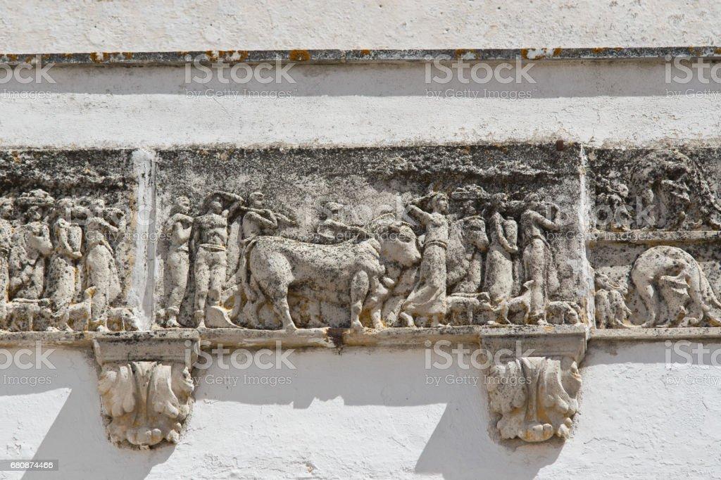 Historical palace. Locorotondo. Puglia. Italy. royalty-free stock photo
