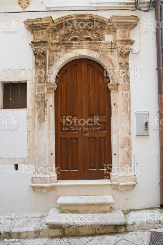 Historical palace. Putignano. Puglia. Italy. stock photo