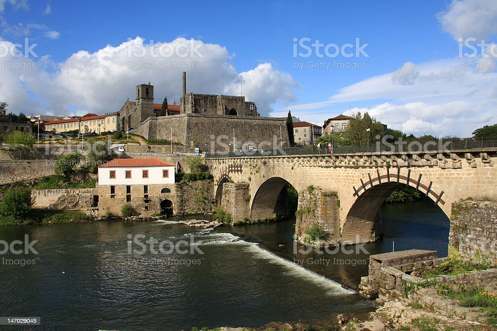 Historical part of Barcelos city stock photo