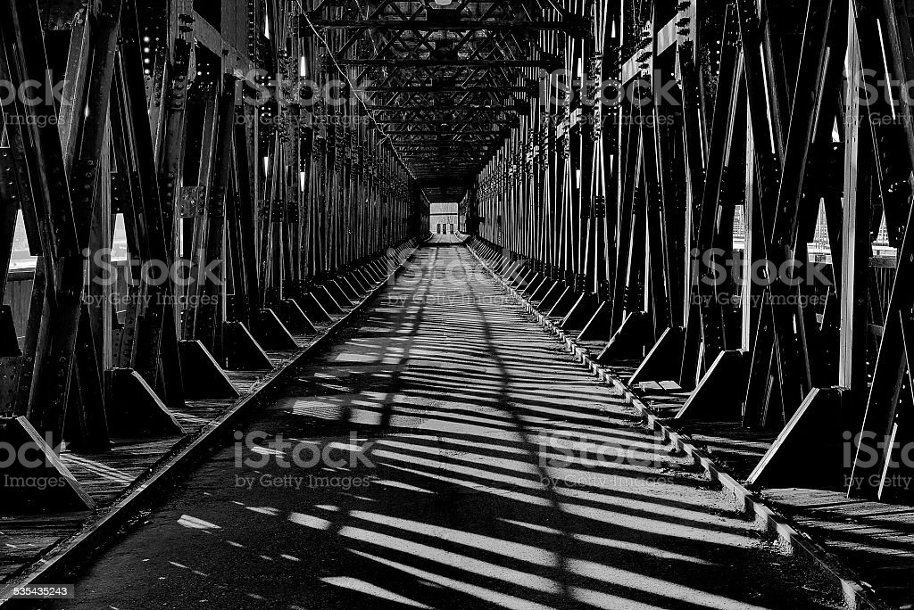 Historical railway bridge stock photo