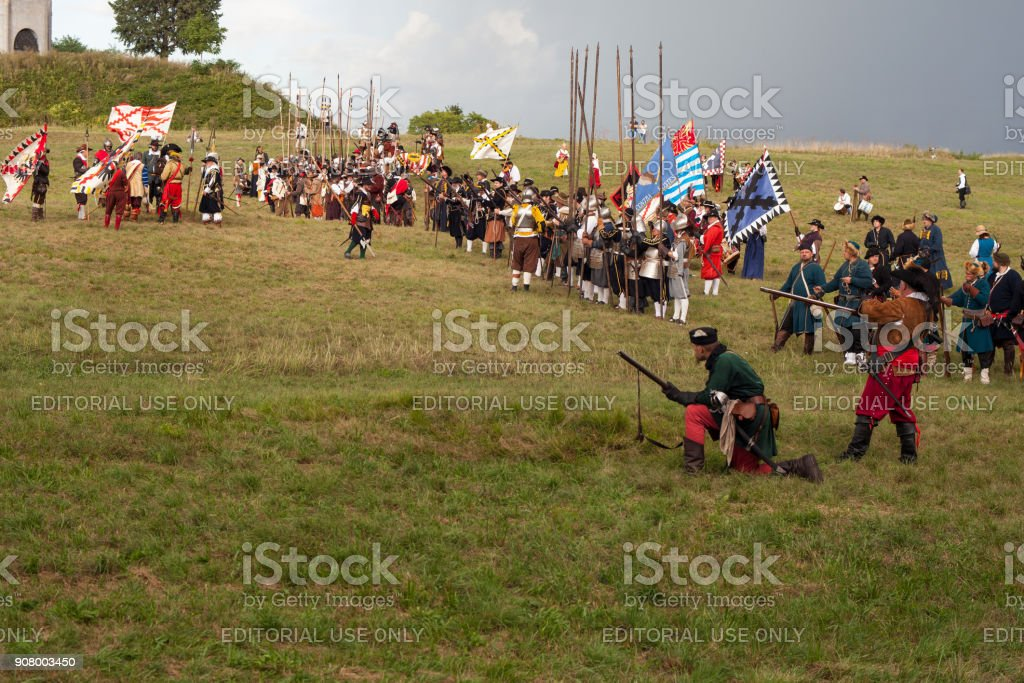 Historical Reenactment a.d. 1615 stock photo