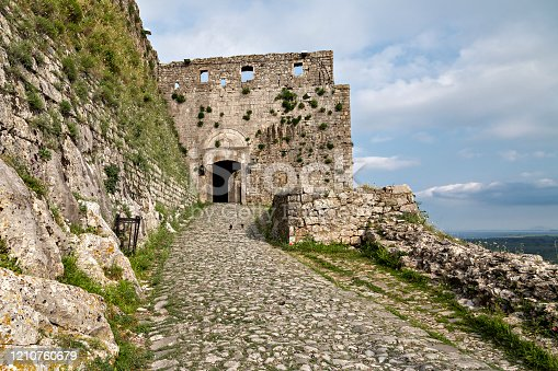 View over the remains of Rozafa Castle in the city of Shkodra, Albania