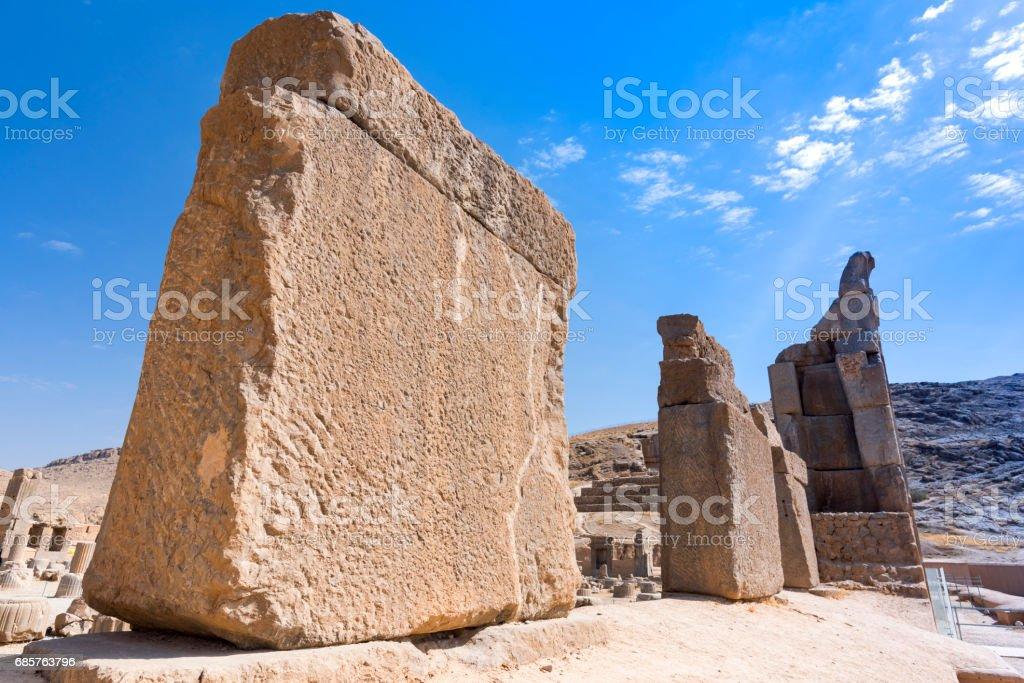 historical ruins at persepolis in shiraz, iran. foto stock royalty-free