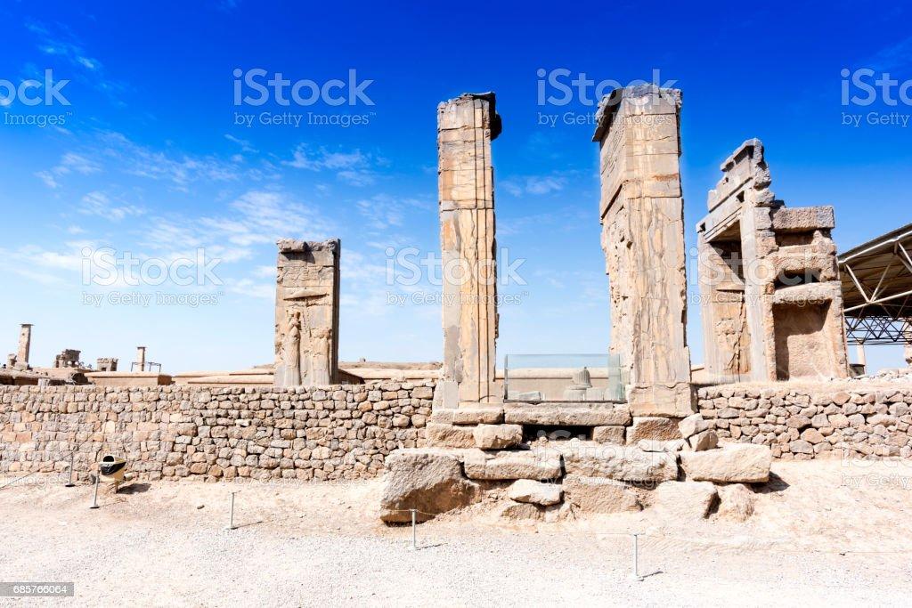 シラーズ、イランのペルセポリスの遺跡。 ロイヤリティフリーストックフォト