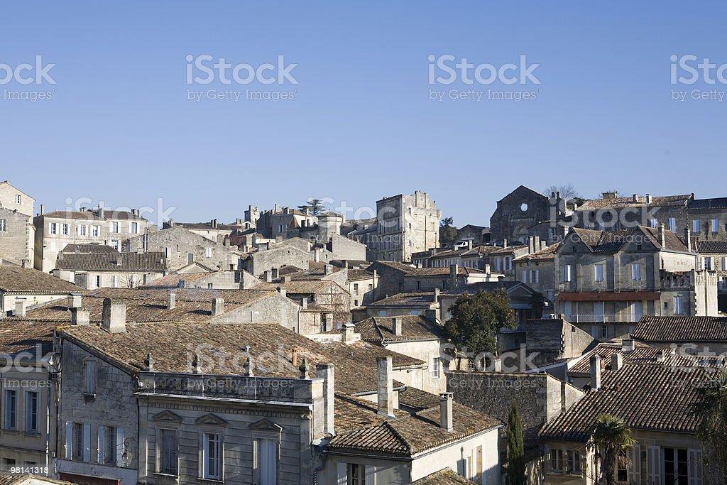 과거 St. Emilion 도시, 프랑스 royalty-free 스톡 사진