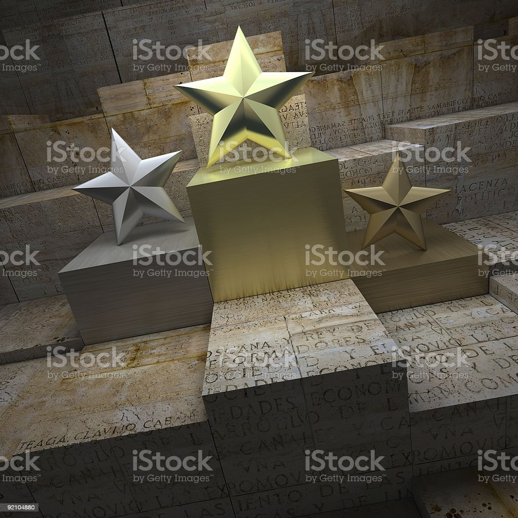 Historical star trophies stock photo