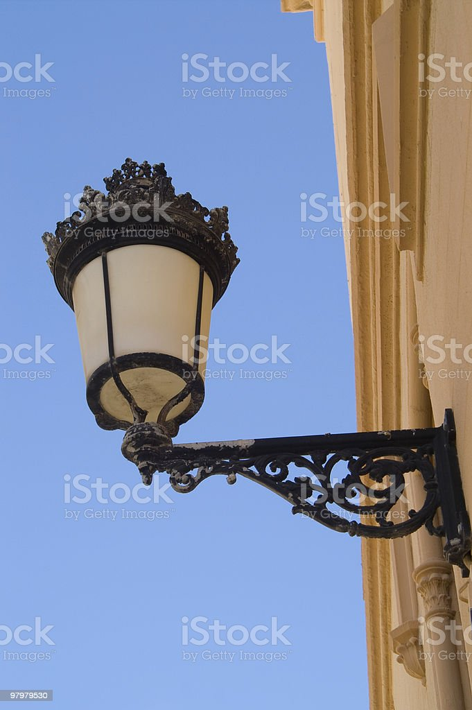Historical street light royalty-free stock photo