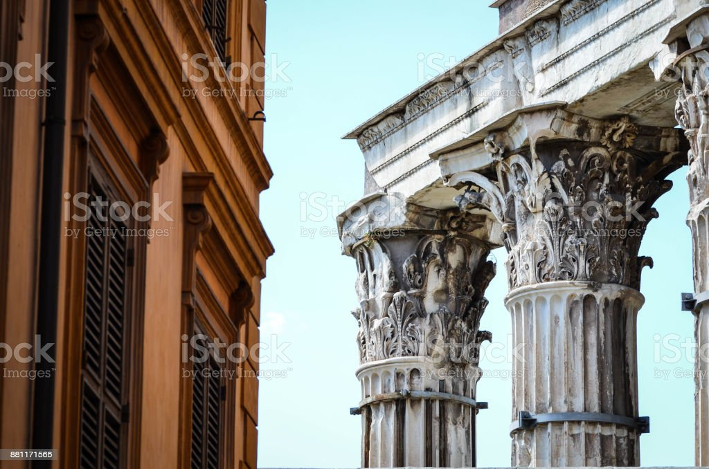 historical streets of Rome stock photo
