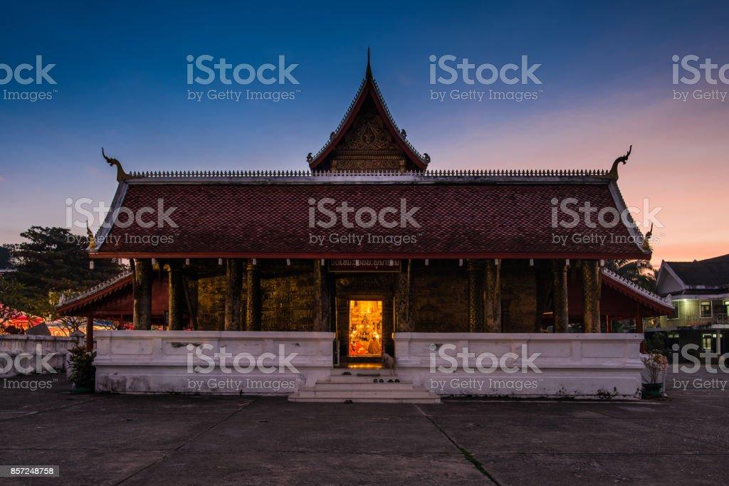 A historical temple Luang Prabang stock photo
