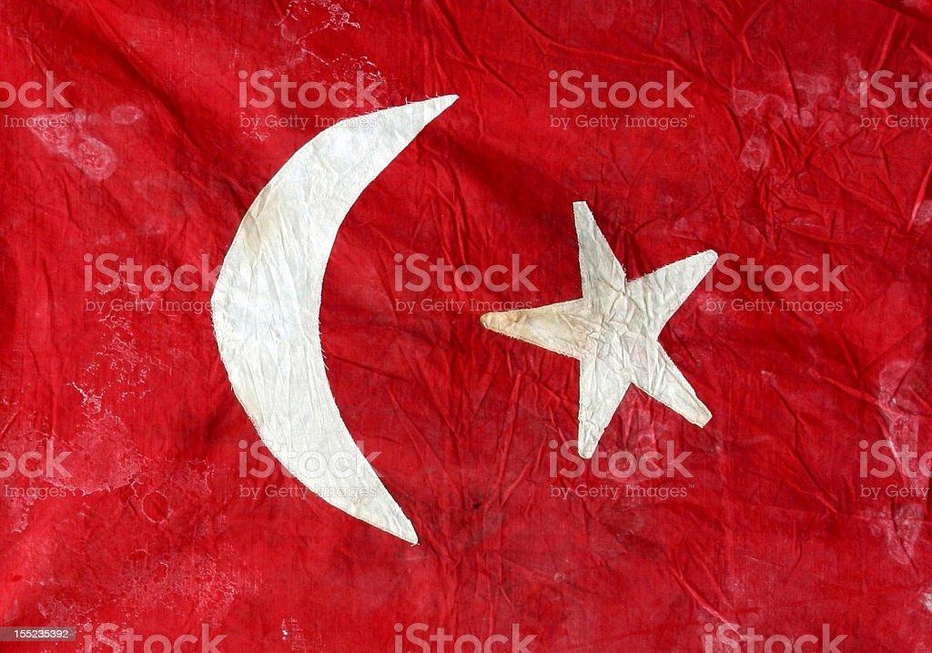 Historische Türkische Flagge – Foto