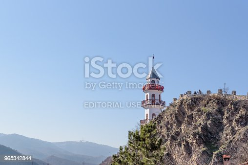 Historical Victory Tower On Hill At Top Of Goynuk Town In Bolu Stock Photo & More Pictures of Anatolia