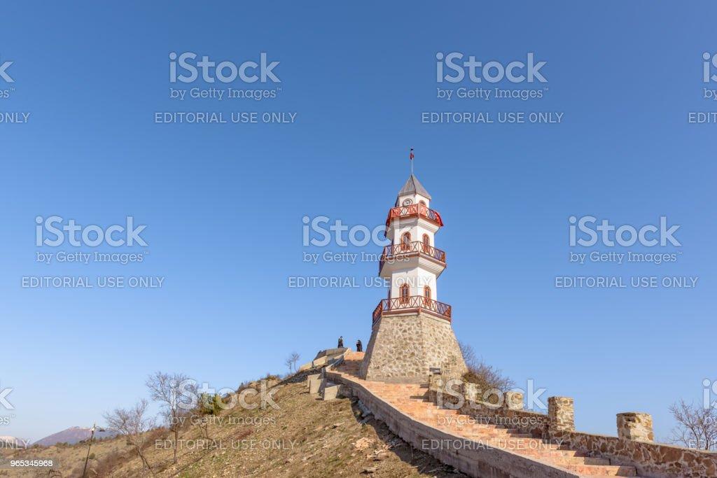 볼 루에서 Goynuk의 상단에 언덕에 역사적인 승리 탑 - 로열티 프리 건물 외관 스톡 사진
