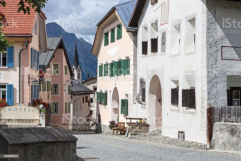 Historical village Guarda stock photo