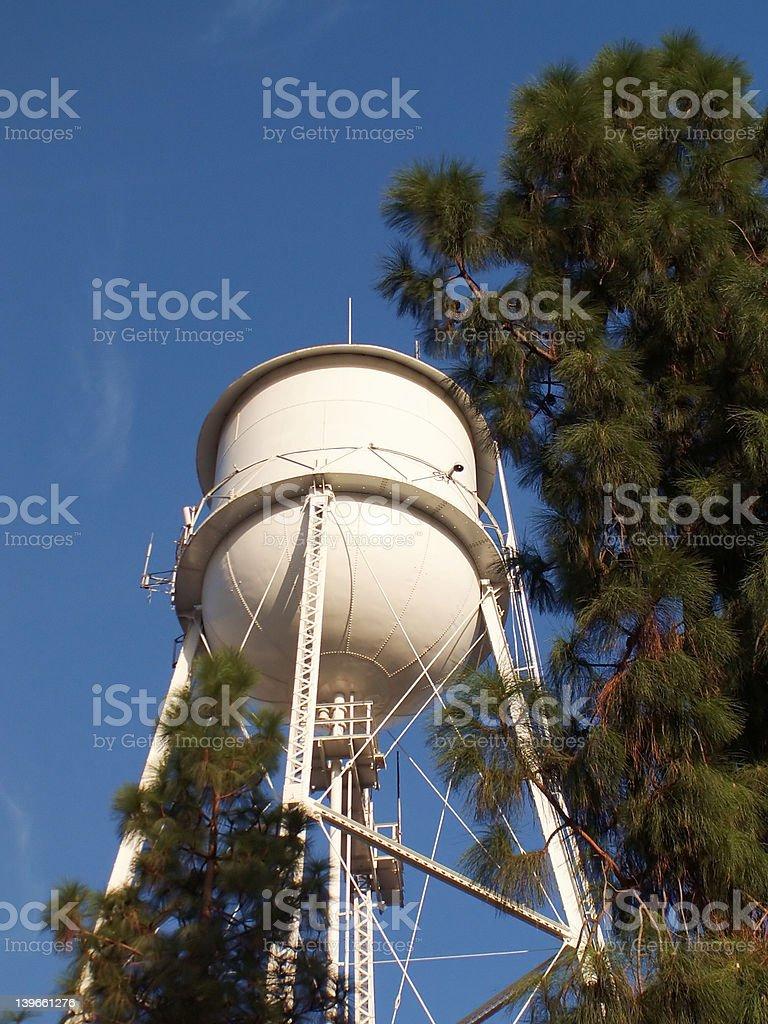 Historical Water Tank in Clovis California royalty-free stock photo