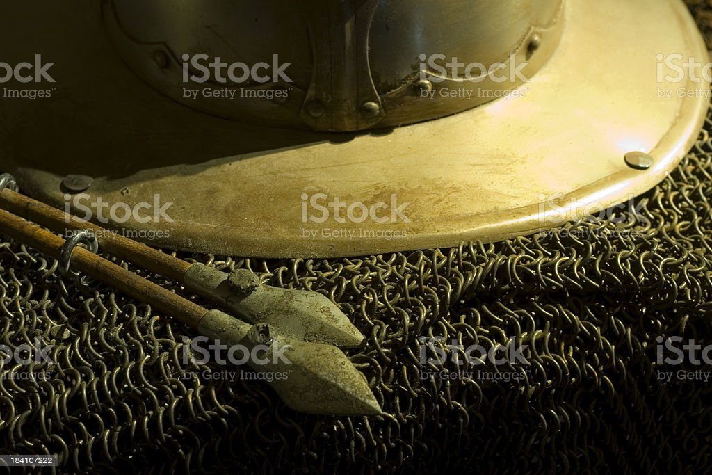 Historical weapons and armour royalty-free stock photo