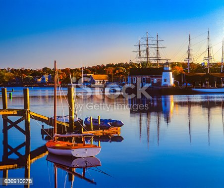 istock Historical whaling village Mystic Seaport Mystic CT 636910278