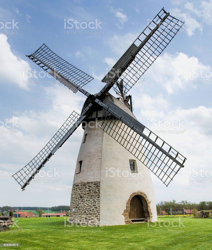 Historical windmill in North Rhine Westphalia, Germany stock photo