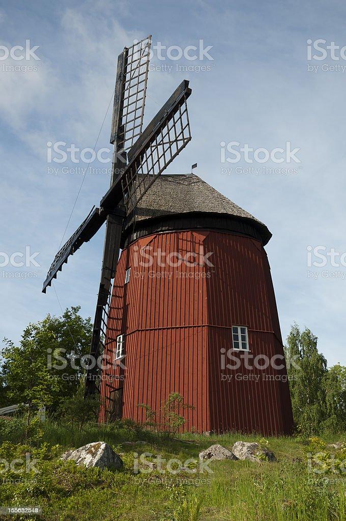 Historical windmill stock photo