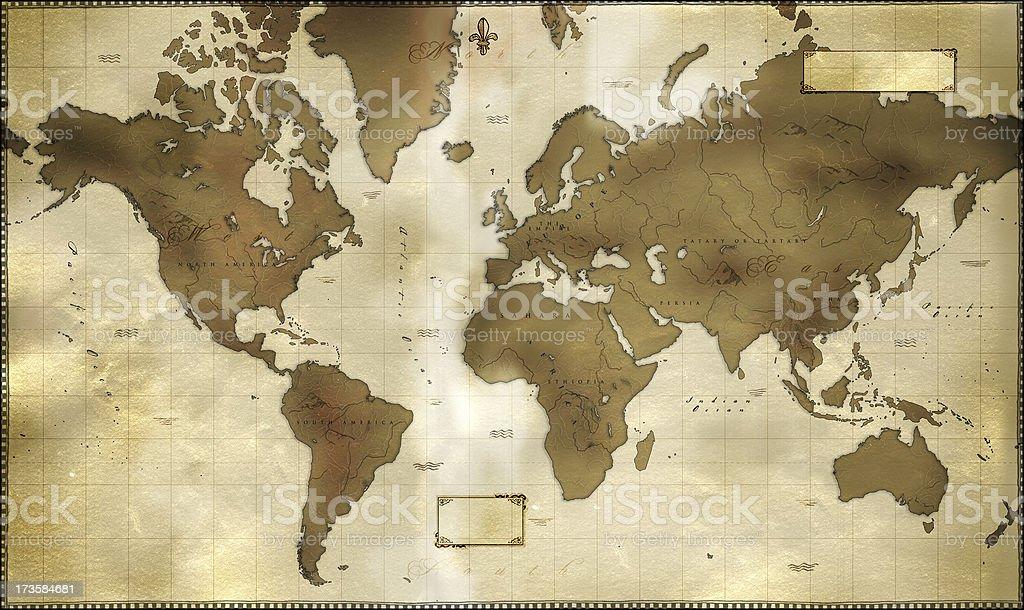 Historische world Karte – Foto
