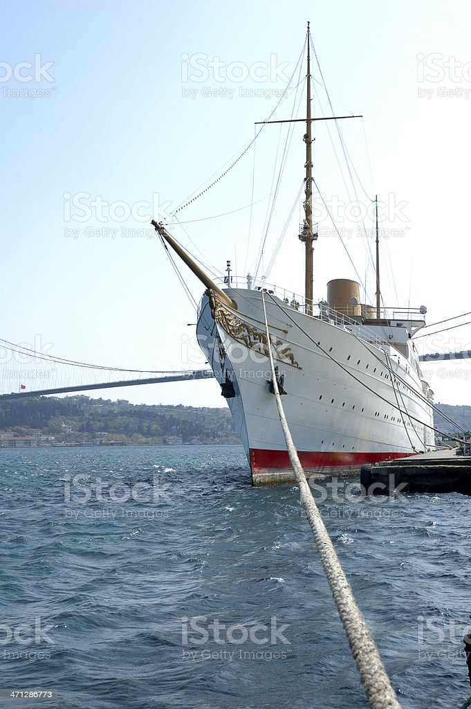 Historical Yacht royalty-free stock photo