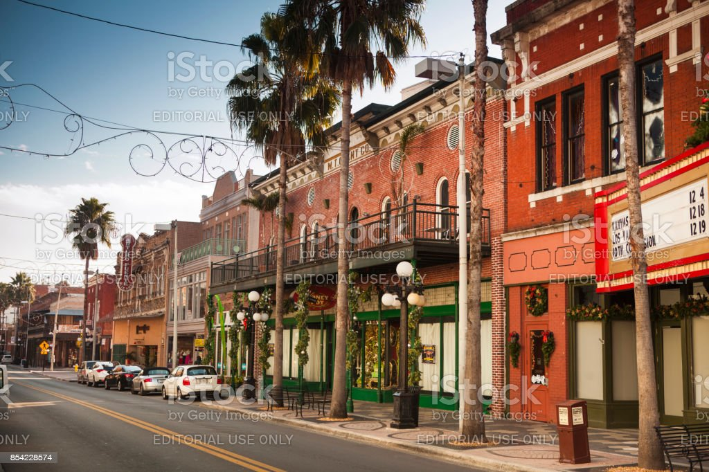 Historical Ybor City in Tampa Bay Florida USA royalty-free stock photo