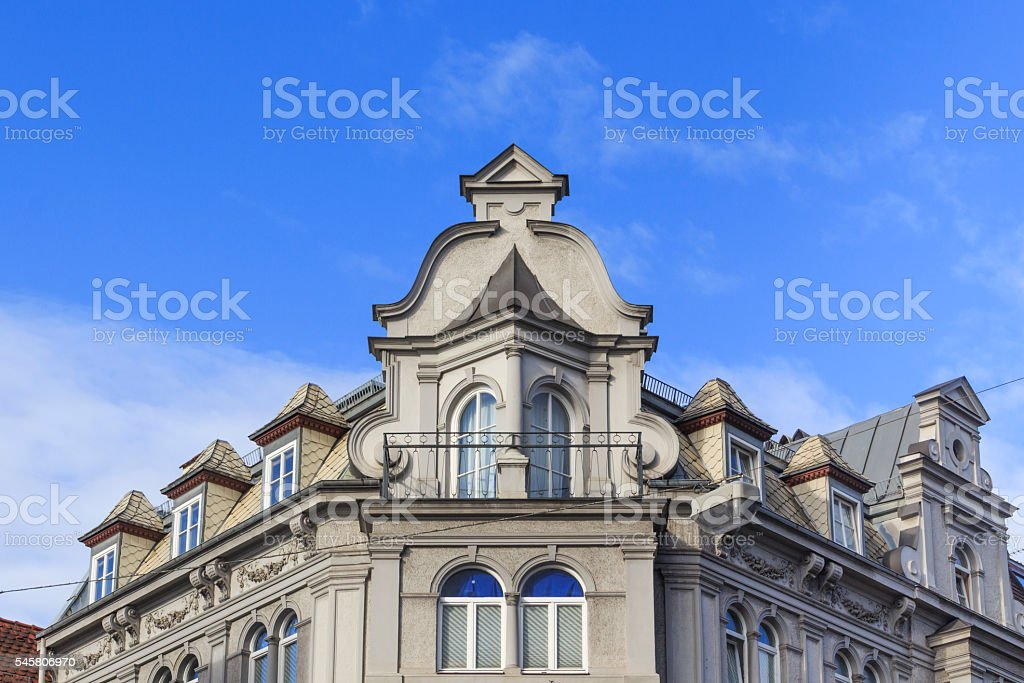 Historische Hausfassade aus Augsburg stock photo