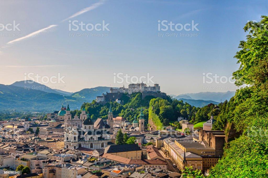 Historische Stadt Salzburg im Sommer royalty-free stock photo