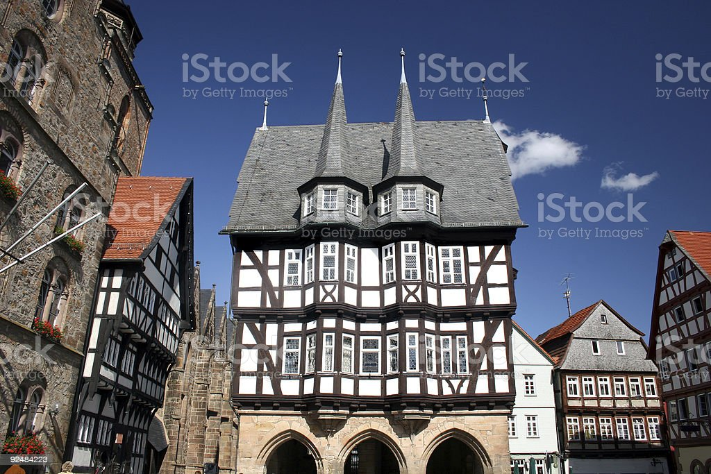 Historisches Rathaus in Alsfeld, Hessen Lizenzfreies stock-foto
